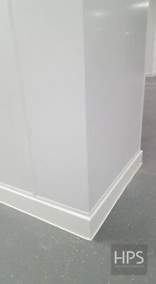 2m x 1m solid PVC hygienic wall cladding sheet in white
