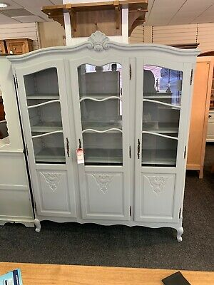 French Vitrine Glazed Bookcase Louis XV Style Display Cabinet