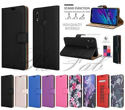 For Huawei Y6s 2019, Shockproof Leather Book Wallet Stand TOUGH Phone Case Cover