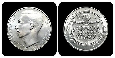 1964 Luxembourg 100 Francs - Silver (UNC)
