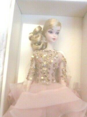 Blush & Gold Cocktail Dress Silkstone Barbie Oh So Pretty Nrfb!!!!!