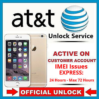 AT&T Unlock iPhone 5s/6/6s/6s+/SE/7/7+/8/8+/X Active Line/IMEI Issues - Express!