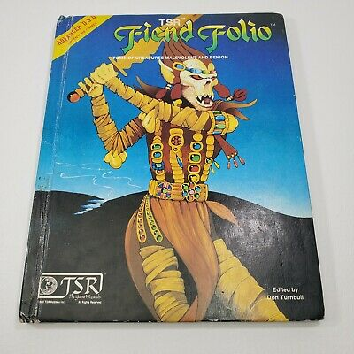 Advanced Dungeons Dragons Sourcebook Fiend Folio 1981 TSR #2012 Very Nice AD&D