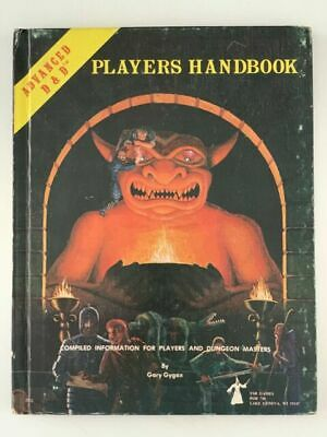 Advanced Dungeons and Dragons Players Handbook 6th Printing TSR 1978 AD&D D&D