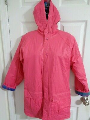 NWT Totes Hoodie Raincoat Jacket fuchsia YOUTH L (14) Women XS See measurements