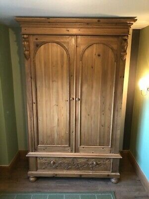 Solid Pine Wardrobe - Vintage Style - Lovely Item In Great Condition