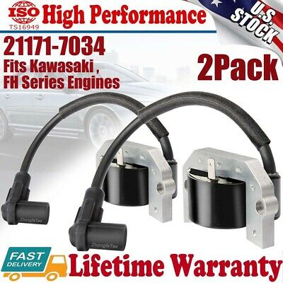 2-PACK ID#21171-7034 Ignition Coil Fits Kawasaki FH381V FH430V FH480V FH541V 21171-7001 21171-7007 21171-7006 21171-7013 For John Deere #AM133525 #MIA11064,Ships Fast From The USA ZF-IG-A00132V