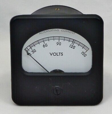 "Simpson Electric 3"" 0-150 AC Volts Analog Panel Meter w/117 Volt Scale Marking"