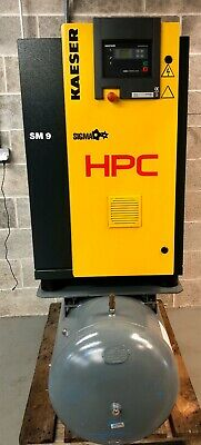 HPC / Kaeser SM9 Receiver Mounted Rotary Screw Compressor! 31.7Cfm, 5.5Kw, 270Lt
