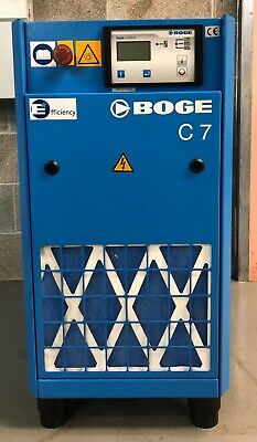 Boge C7 Rotary Screw Compressor, 5.5Kw, 31.7Cfm, Immaculate Order! Low Hours!