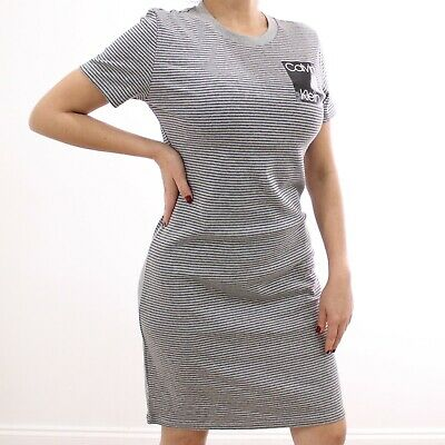 Women's Calvin Klein Striped Grey and Black Sport Dress | Size S | NWT