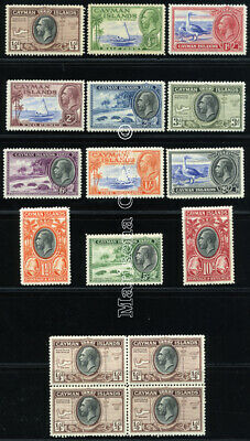 Cayman Islands 1935 Sg 96-107 Sc 85-96+Bl Vf Og Mlh * Rare Complete Set 12 Stamp