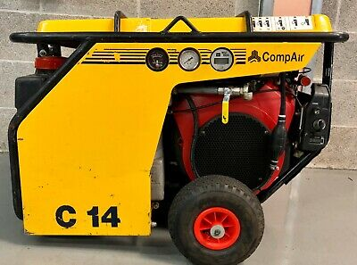 Compair C14 Portable Petrol Rotary Screw Compressor! 49Cfm! Fully Serviced!