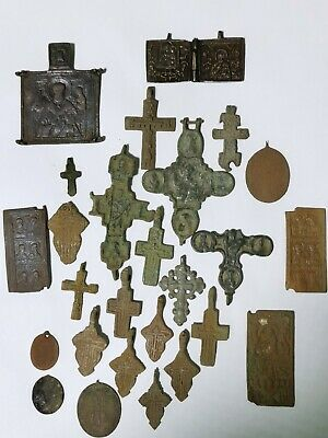 Ancient  beautiful crosses and icon  lot