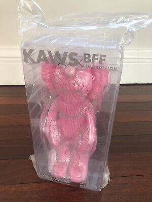"""Kaws Medicom Toy Open Edition """"2018 Pink Edition BFF"""" Statue Sculpture Figure"""