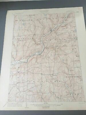 US Geological Survey Topography Map,1904 Quadrangle Oxford New York