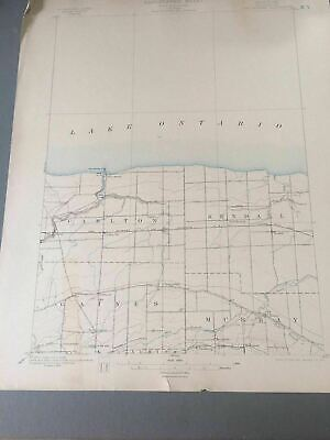 US Geological Survey Topography Map,1902 Quadrangle Oak Orchard New York
