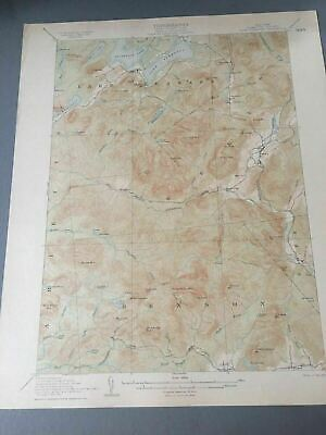 US Geological Survey Topography Map,1907 Quadrangle Lake Pleasant New York