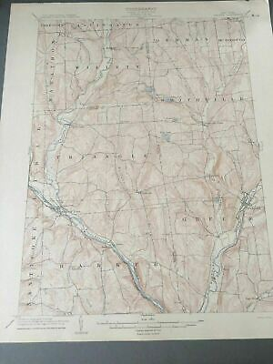 US Geological Survey Topography Map,1904 Quadrangle Greene New York