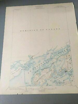 US Geological Survey Topography Map,1903 Quadrangle Grindstone New York