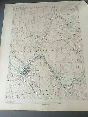 US Geological Survey Topography Map,1904 Quadrangle Schenectady  New York