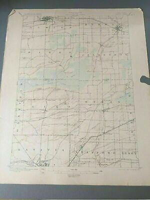 US Geological Survey Topography Map,1902 Quadrangle Albion New York