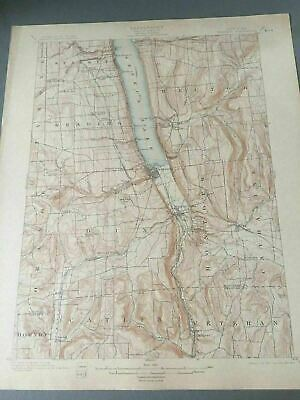US Geological Survey Topography Map,1904 Quadrangle Watkins New York