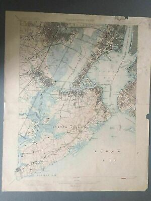US Geological Survey Topography Map,1902 Quadrangle New York City- New Jersey