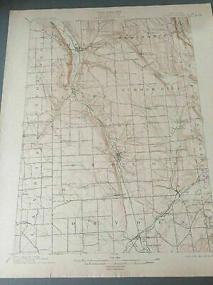 US Geological Survey Topography Map,1905 Quadrangle Moravia New York