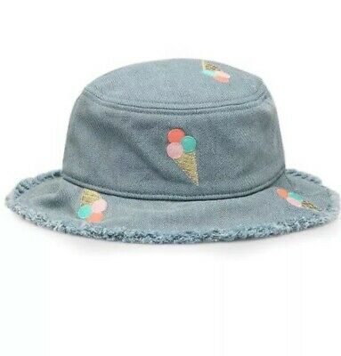 BRAND NEW Country Road Girls Bucket Hat, Denim With Icecream Detail