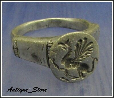 ** GRYPHON ** Ancient Legionary Silver Greek Roman Ring **AMAZING **