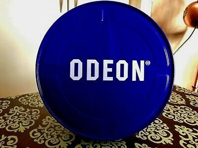 VERY RARE ODEON CINEMAS BLUE FILM CAN HOLDS 2 Super 8mm - 8mm 400ft Film Spools