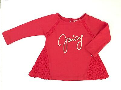 BNWOT JUICY COUTURE designer brand baby girls top t-shirt red 12 months / 1 year