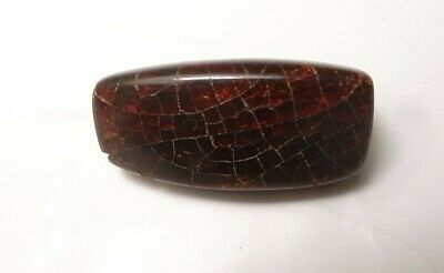 Ancient Near Eastern natural amber bead, I mil. B.C. 2.8 cm facet cut