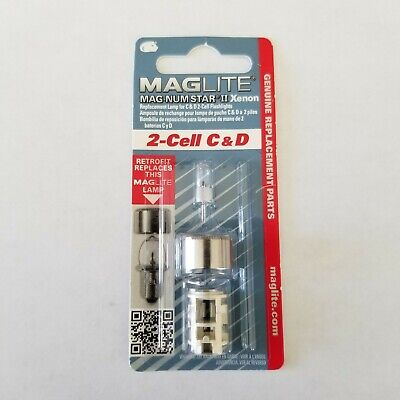 PR2 Light Bulbs Replacement fit Maglite 2-Cell D C Flashlight LED Incandescent