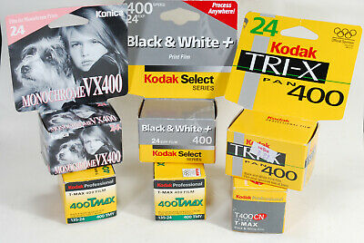 Lot of 6 Black & White 35mm Films  Expired-Unopened Still Sealed