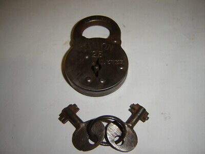 Union 25 - Six  Lever Padlock WITH 2 Keys.