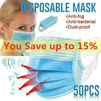 20/50/100pcs Mask Anti Dust 3Ply Face masks mouth air pollution Protector
