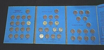 6 Canada Nickels 5 Cent With Whitman Display Album