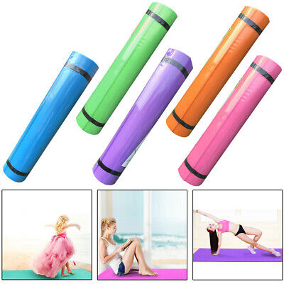 4/5/8MM Yoga and Pilates Exercise Gym Mat, EVA Foam with Carry Strap