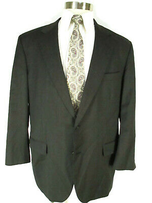 Brooks Brothers 1818 Madison Mens Charcoal 2 Btn Suit 45R USA Made