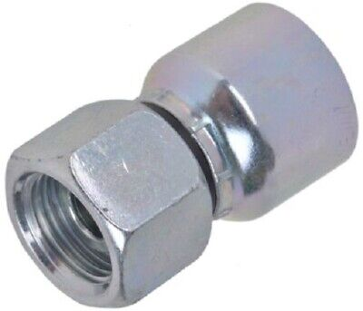 Parker BSP FEMALE STRAIGHT HOSE FITTING Zinc Dichromate Plated- 1/2″ Or 3/4″