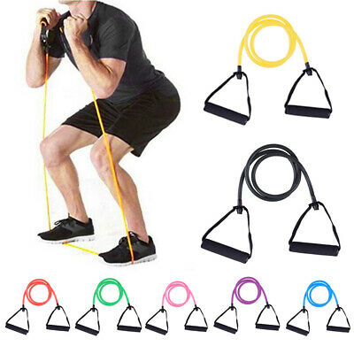 Resistance Exercise Band Pull Rope Tube Fitness Elastic Stretch Yoga Gym Cord