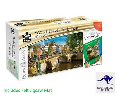 Scenic Locations – Amsterdam 1000 Piece Jigsaw Puzzle incl Roll up Puzzle Mat