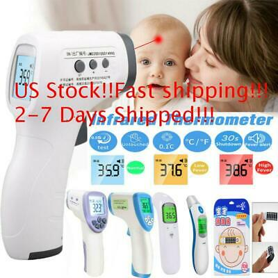 Non Contact Digital IR Infrared Forehead Thermometer Baby Adults Temperature Hot