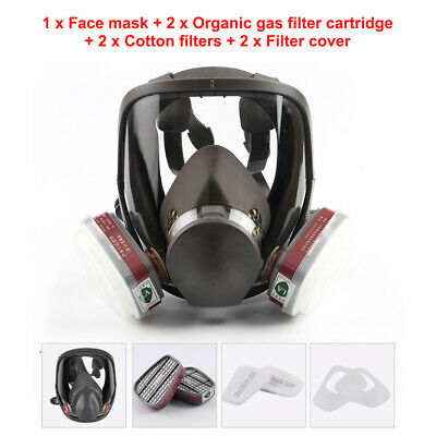 7 in 1 Full Face Chemical Spray Painting Respirator Vapour Gas For 6800