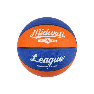 Midwest League Outdoor Recreational Mini Rubber Basketball Ball - Size 3