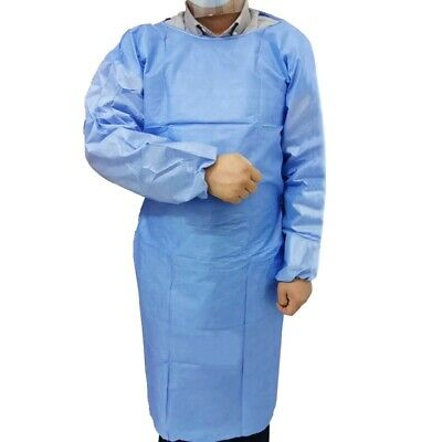 Disposable Protection Gown with Elastic Cuff for Hospital Surgery Overalls
