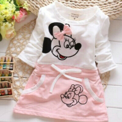 New Summer Baby Girls Cartoon Cotton Dress Children's Clothing Kids Casual