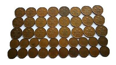 Huge joblot house Clearance 44 extremely rare 1p-2p new pence coins